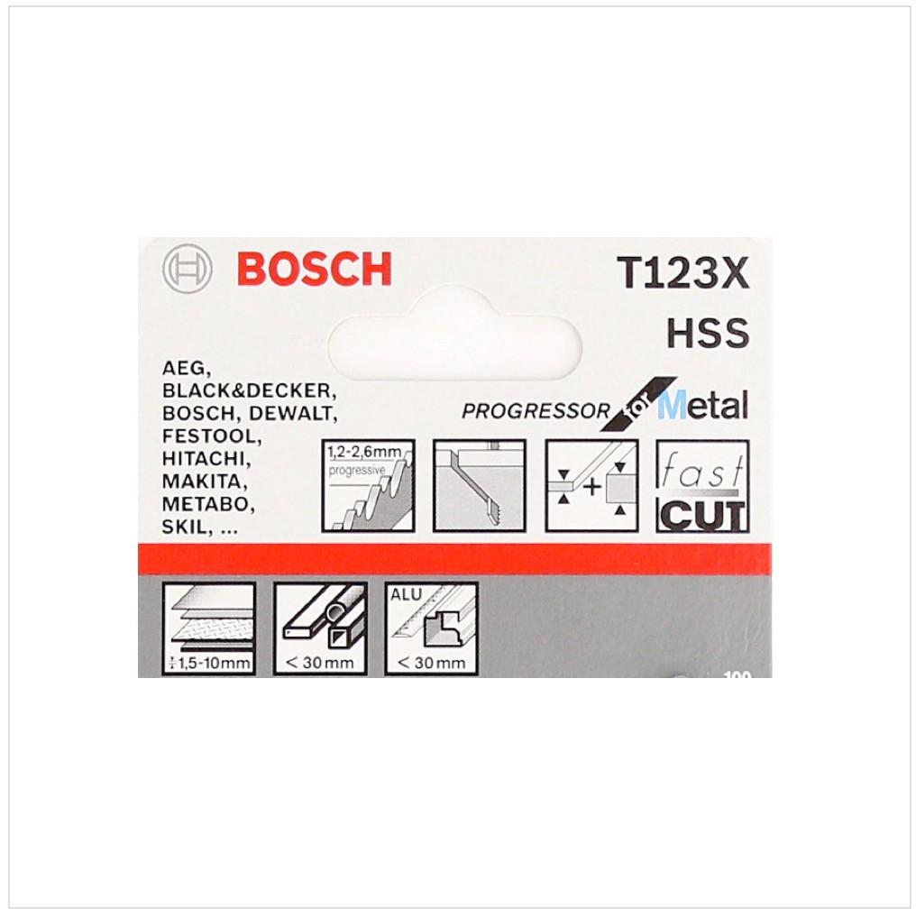 bosch 5 stichsägeblätter progressor for metal t 123 xf ( 2608638473