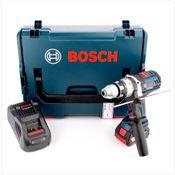 Bosch GSB 18 VE-2-Li 18 V Li-Ion Professional Akku Schlagbohrschrauber in Bosch L-Boxx mit Schnellladegerät und 1x GBA 6 Ah Akku