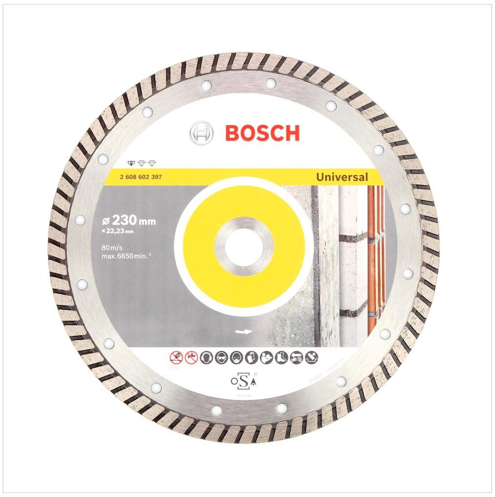 bosch diamant trennscheibe 230 x 22 23 standard for universal turbo 2608602397. Black Bedroom Furniture Sets. Home Design Ideas