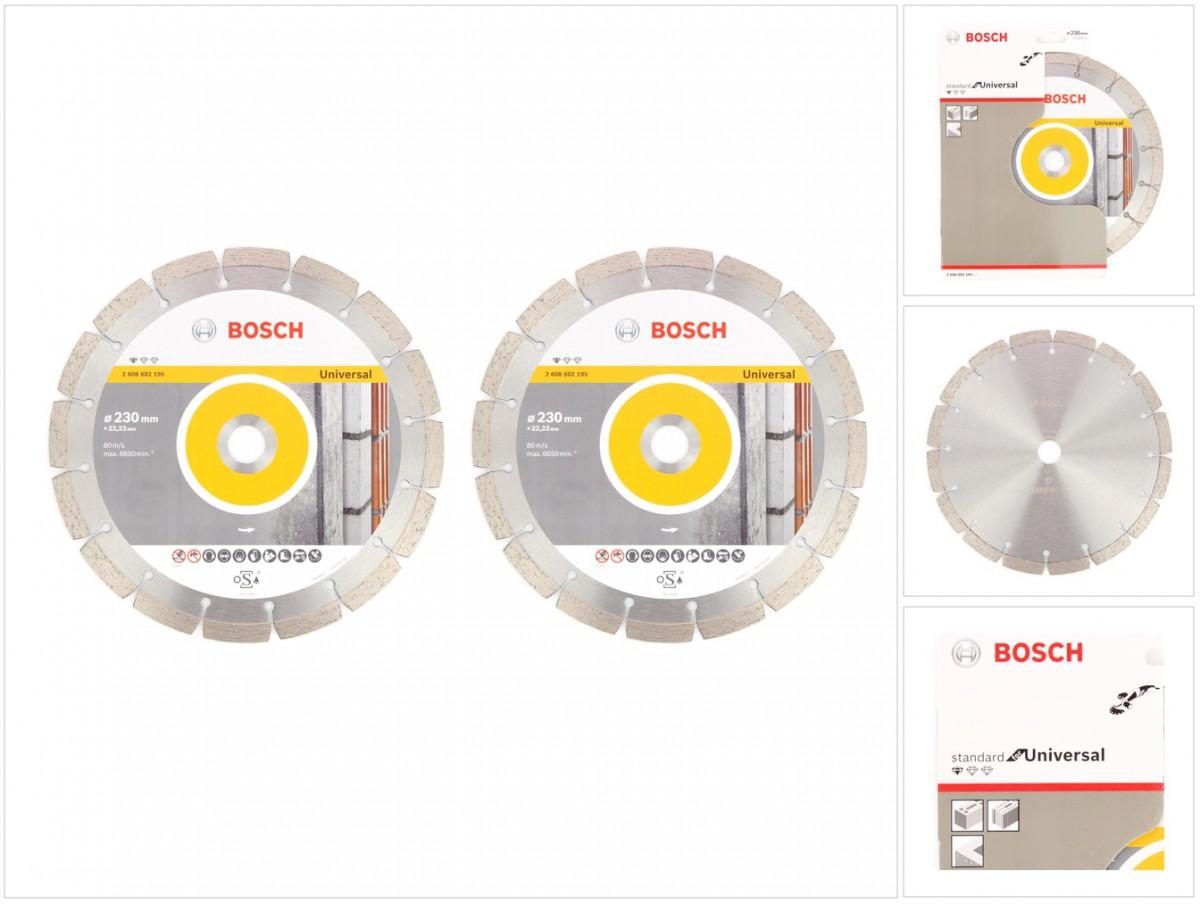 bosch diamant trennscheibe 2 er set 230 x 22 23 mm. Black Bedroom Furniture Sets. Home Design Ideas