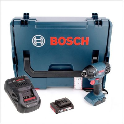 """Bosch GDR 18 V-Li Akku Drehschlagschrauber 18V 1/4"""" in L-Boxx + 1x 2,0Ah Akku + Ladegerät – Bild 2"""