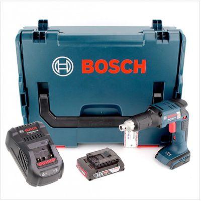 Bosch GSR 18 V-EC TE Professional brushless Akku Trockenbauschrauber in L-Boxx + GAL 1880 CV Schnellladegerät + 1x GBA 2 Ah Akku – Bild 2