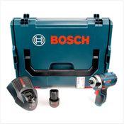 Bosch GDR 10,8-Li Professional Akku Dreh Schlagschrauber in L-Boxx + 1 x GBA 10,8 V 2,5 Ah Akku + AL 1130 CV Schnelllader