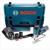 Bosch GST 10,8 V-Li Professional Akku Stichsäge in L-Boxx + 2 x GBA 10,8 V 2,0 Ah Akku + AL 1130 CV Schnelllader ( 06015A1000 )