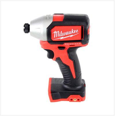 Milwaukee M18 BLID 502 C 18 V Brushless Akku - Schlagschrauber + 2x 5.0 Ah Red Li-Ion Akku + Milwaukee M12-18C Universal Akku Ladegerät + Koffer – Bild 3