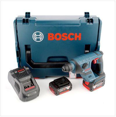 Bosch GBH 18 V-Li Akku Bohrhammer 18 V 1,0 J SDS-Plus + L-Boxx + 2x Akku 5,0Ah + 1x Ladegerät – Bild 2