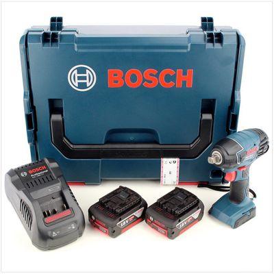 Bosch GDS 18 V-LI Professional 18 V Akku Drehschlagschrauber + 2x GBA 5 Ah Li-Ion Akkus + Ladegerät + L-Boxx  – Bild 2