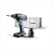 Festool T 18+3 Li-Basic Perceuse-visseuse sans fil + Coffret de transport Systainer - sans Batterie ni Chargeur ( 574763 )