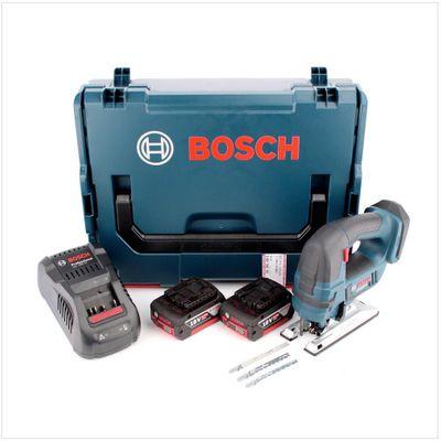 Bosch GST 18 V-Li B Professional Akku Stichsäge in L-Boxx + 2 x GBA 5,0 Ah Akku + GAL 1880 CV Schnellladegerät – Bild 2