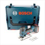 Bosch GST 18 V-Li S Professional Scie sauteuse sans fil + Coffret de transport L-Boxx + 1x Batterie GBA 5,0 Ah + Set d'accessoires - sans Chargeur