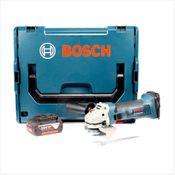 Bosch GWS 18-125 V-LI 125 mm Professional Akku Winkelschleifer mit 1x GBA 5,0 Ah Akku + L-Boxx