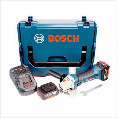 Bosch GWS 18-125 V-LI 125 mm Professional Meuleuse angulaire sans fil avec boîtier L-Boxx + 2x Batteries GBA 5,0 Ah + Chargeur – Bild 2