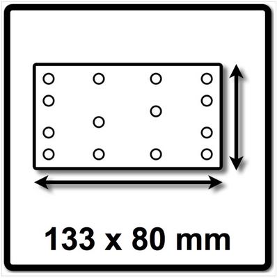Festool Granat Schleifstreifen STF 80x133 P 60 GR 50 ( 497118 ) – Bild 3