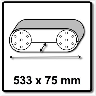 Festool L533X 75-P60 RU2/10 Rubin 2 Schleifband 10Stück P60 für Holzwerkstoffe 533x75 mm ( 499156 ) – Bild 3
