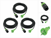3 x Festool Plug it Kabel H 05 RN-F 2x1 4m 240 V ( 499851 )