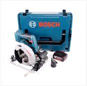 Bosch GKS 18 V-57 G Professional Scie circulaire sans fil avec boîtier L-Boxx + 1x Batterie GBA 5,0 Ah - sans Chargeur