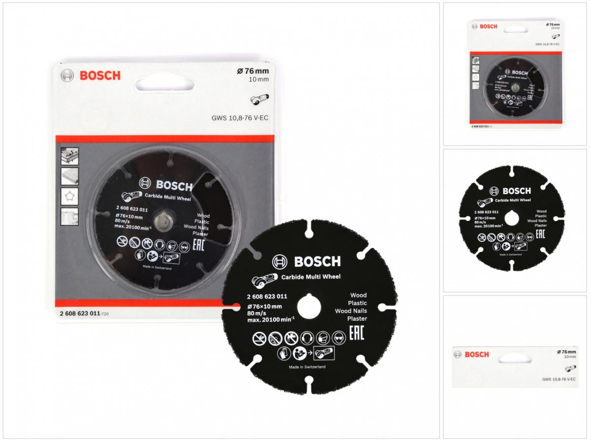 Bosch Trennscheibe HM Multi Wheel 76mm Akku Winkelschliefer GWS12V-76 2608623011
