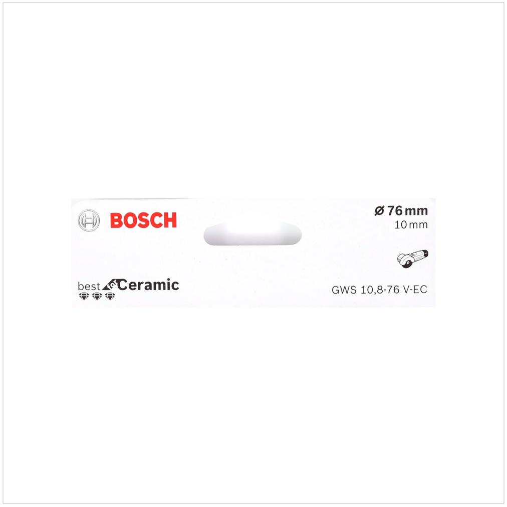 bosch trennscheibe diamant f r ceramic 76 mm f r gws 10 8 76 12v 76 2608615020. Black Bedroom Furniture Sets. Home Design Ideas