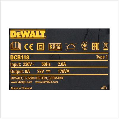 DeWalt DCB 118 XR FlexVolt 54 V / 18 V Akku Schnell Ladegerät   – Bild 4