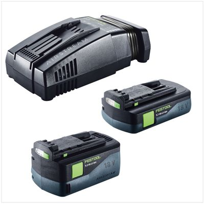 Festool SCA 8 Li-Ion Chargeur rapide ( 200178 ) + 1x Batterie Festool BP 18 Li 5,2 AS 18V 5,2 Ah ( 200181 ) + 1x Batterie Festool BP 18 Li 3,1 AS 18V 3,1 Ah avec Airstream Technologie ( 201789 ) – Bild 2
