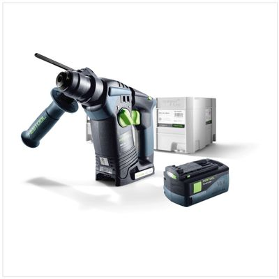 Festool BHC 18 Li Basic Akku Bohrhammer SDS-Plus ( 574723 ) im Systainer + 1x BP 18 Li 5,2 AS ( 200181 ) – Bild 2