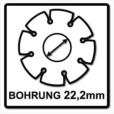 WellCut Diamond Blade Diamant Trennscheibe 125 x 22,2 mm General Purpose turbo ( 222 - 125 / 22 ) – Bild 5