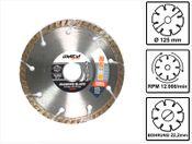 WellCut Diamond Blade Diamant Trennscheibe 125 x 22,2 mm General Purpose turbo ( 222 - 125 / 22 )