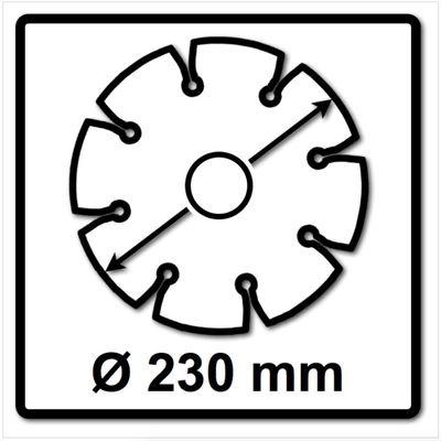 WellCut Diamond Blade Diamant Trennscheibe 230 x 22,2 mm Application Continuous ( 555 230 / 22 ) – Bild 3