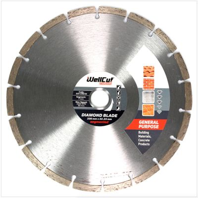 WellCut Diamond Blade Diamant Trennscheibe 230 x 22,2 mm General Purpose Segmented ( 223 230 / 22 ) – Bild 2