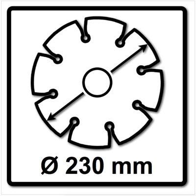 WellCut Diamond Blade Diamant Trennscheibe 230 x 22,2 mm Universal Turbo ( 888 230 / 22 ) – Bild 3