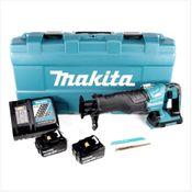 Makita DJR 360 RTK Akku Reciprosäge 36V ( 2x18V ) Brushless Säbelsäge im Koffer + 2x 5,0 Ah Akku + Ladegerät