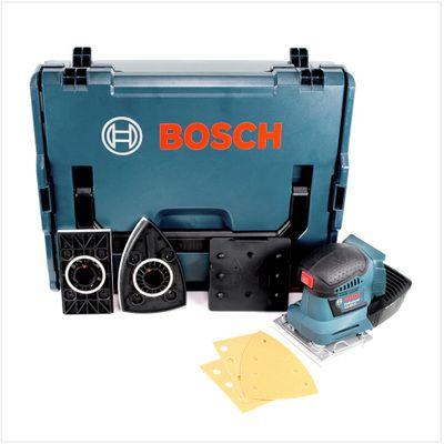 Bosch GSS 18 V-10 Akku Schwingschleifer 18V 22.000U/min ( 06019D0202 ) mit 3 Schleiftellern in L-Boxx  – Bild 2