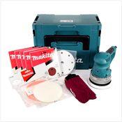 Makita BO 6030 JX1 150 mm Exzenterschleifer mit Schleifpapier Set im Makpac 3