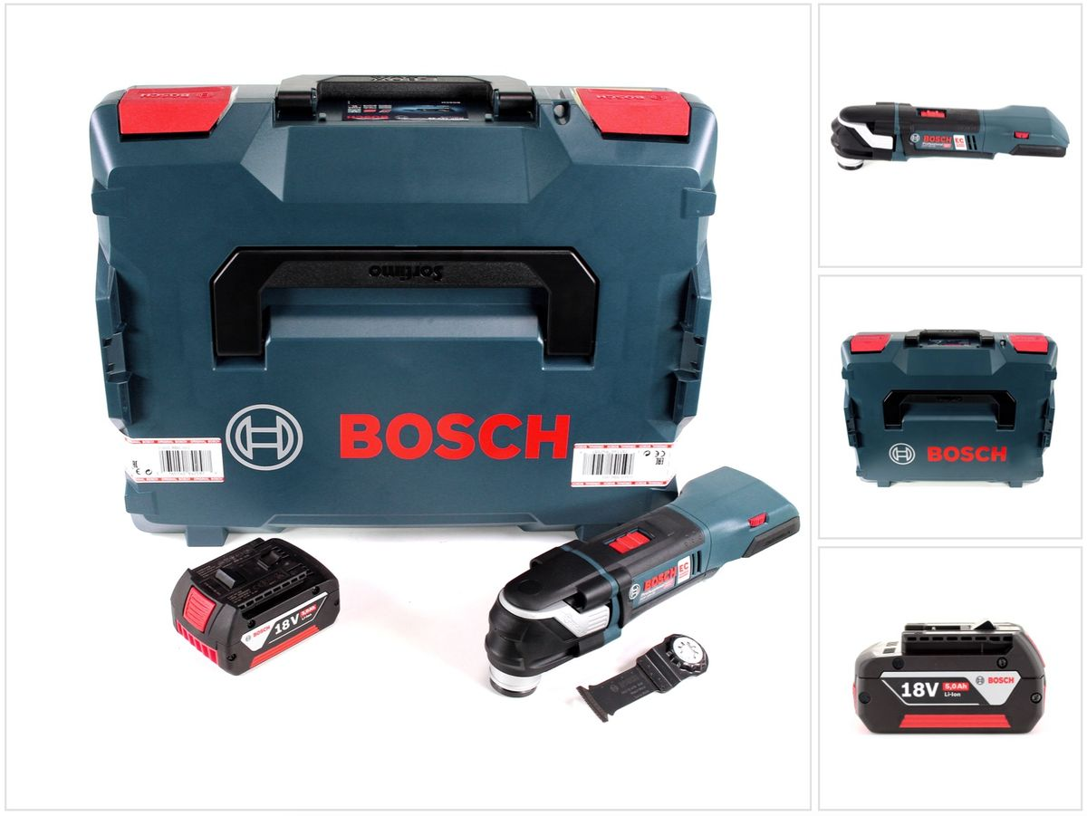 bosch gop 18 v 28 brushless akku multi cutter in l boxx 1x 5 ah akku ebay. Black Bedroom Furniture Sets. Home Design Ideas
