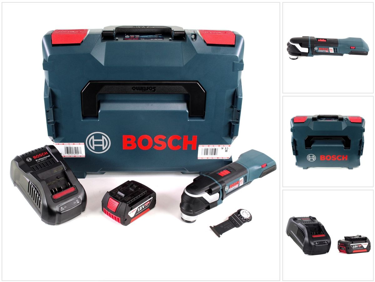 bosch gop 18 v 28 brushless multifunktions cutter werkzeug 1x 5ah akku lader ebay. Black Bedroom Furniture Sets. Home Design Ideas