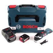 Bosch GOP 18 V-28 Akku Multicutter 18V Multifunktionswerkzeug Starlock Plus in L-Boxx + 1x 5,0 Ah Akku + Ladegerät