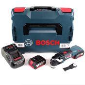Bosch GOP 18 V-28 Professional Brushless Akku Multi Cutter Multifunktions Werkzeug mit Starlock Plus in L-Boxx mit 2x GBA 5,0 Ah Akku und GAL 1880 CV Ladegerät