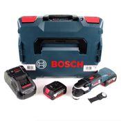 Bosch GOP 18V-28 Akku Multi-Cutter Starlock Plus Brushless + 2x Akku 6,0Ah + Ladegerät + L-Boxx