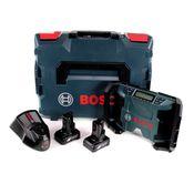 Bosch GPB 12V-10 Akku Baustellenradio 12V + 2x Akku 6,0Ah + Ladegerät + L-Boxx