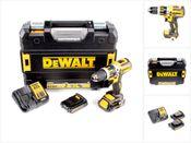 DeWalt DCD 795 S2 18 V Akku Schlagbohrschrauber im T-STAK Koffer + 2x 1,5 Ah Akkus + 1x DCB 113 Schnell-Ladegerät