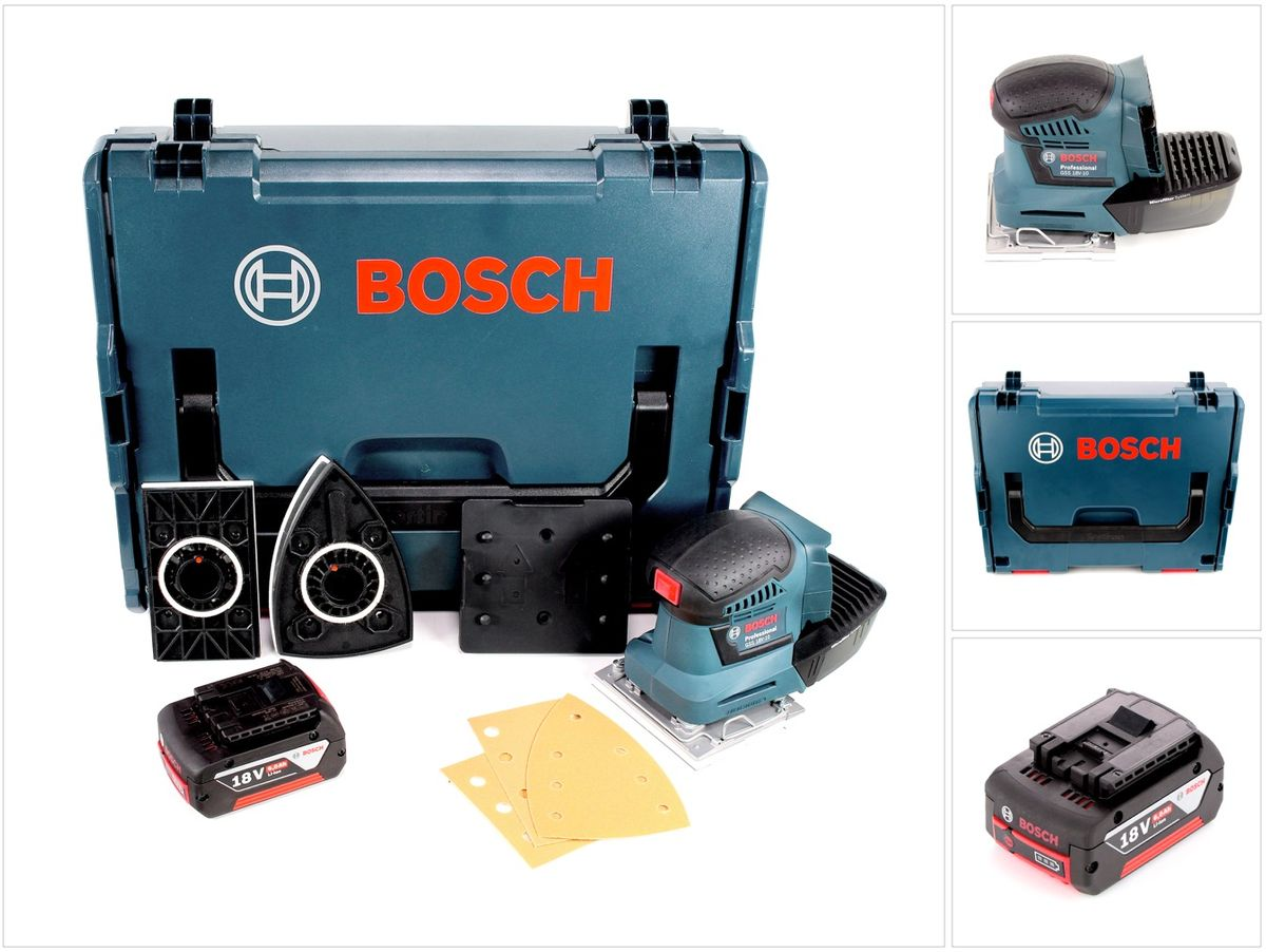 bosch professional gss 18 v 10 akku schwingschleifer in l boxx 1 x gba 6 0 ah akku. Black Bedroom Furniture Sets. Home Design Ideas