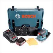 Bosch GSS 18V-10 Akku Schwingschleifer 18V + 1x Akku 3,0Ah + Ladegerät + L-Boxx