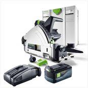 Festool TSC 55 Li REB Basic Akku Tauchsäge 36V ( 2x18V ) ( 2201395 ) 160mm Brushless im Systainer + 1x 5,2Ah Akku + Ladegerät