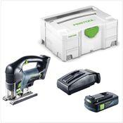 Festool PSBC 420 Li EB Basic Scie sauteuse sans fil avec boîtier Systainer + 1x Batterie BP 18 Li 3,1 Ah + Chargeur rapide TCL 6 Li-Ion