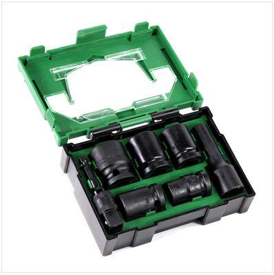 "Hitachi Kraftnuss Box Steckschlüsselsatz 7 - teilig 1/2"" Vierkant 1/4"" Sechskant ( 40030025 ) – Bild 3"