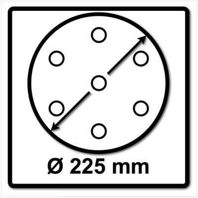Bosch SIA Scheibe Keramik Schleifnetz 7500 225 mm Körnung P80 25 Stück ( F03E0068EH ) – Bild 3