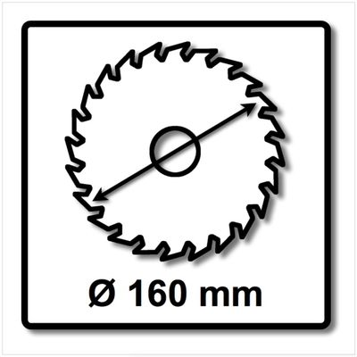 Festool 2x Panther Kreissägeblatt HW 160x2,2x20 PW12 160 mm 12 Zähne ( 2x 496301 ) – Bild 3