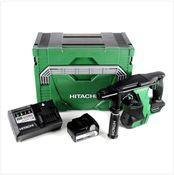Hitachi DH 18 DBL 18 V Li-Ion Brushless SDS-Plus Akku Bohrhammer im Hitachi System Case HSC Typ 3 + 1x BSL 1850 18 V 5,0 Ah Akku + 1x UC 18YSL3 Ladegerät 14,4 - 18 V