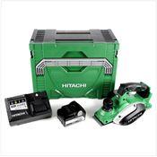 Hitachi P 18 DSL Li-Ion 18 V Akku Hobel 82 mm + Hitachi Sytem Case HSC Typ 3 + 1x Hitachi BSL 1850 18 V 5,0 Ah + 1x Hitachi UC 18YSL3 Akku Ladegerät 14,4 - 18 V