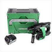 Hitachi DH 18 DBL 18 V Li-Ion Brushless SDS-Plus Akku  Bohrhammer im Hitachi System Case HSC Typ 3 + 1x Hitachi BSL 1850 18 V 5,0 Ah